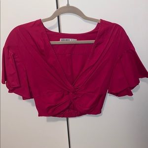 Zara crop top with twist front
